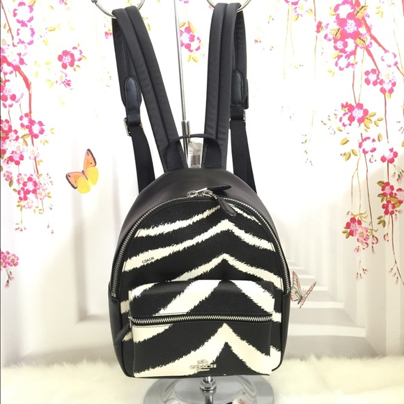 01d8faa561 ❤️NWT Coach Mini Backpack Zebra Print